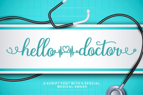 Print on Demand: Hello Doctor Script & Handwritten Font By zainstudio