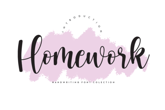 Print on Demand: Homework Script & Handwritten Font By Creativewhitee
