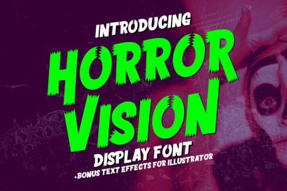 Print on Demand: Horror Vision Display Font By memetxsaputra