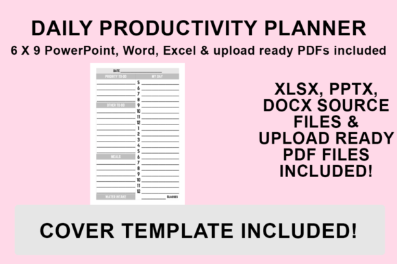 Print on Demand: KDP Interior Daily Productivity Planner Graphic KDP Interiors By Luke Bowes