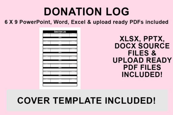 Print on Demand: KDP Interior - Donation Log Graphic KDP Interiors By Luke Bowes