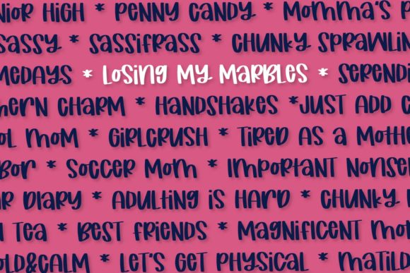 Print on Demand: Losing My Marbles Script & Handwritten Font By Justina Tracy - Image 2
