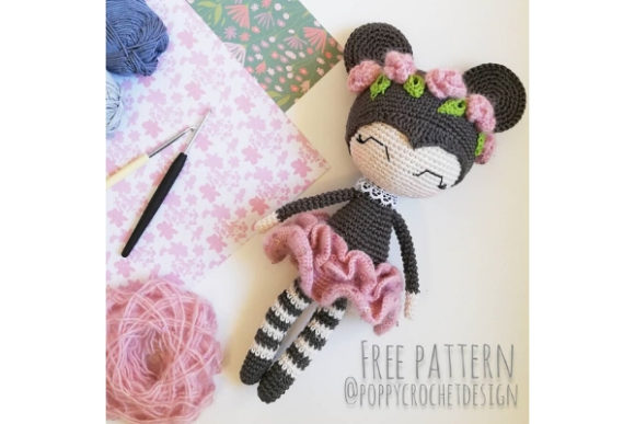 Luna the Mouse Lady Crochet Pattern Graphic Crochet Patterns By Needle Craft Patterns Freebies