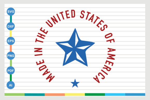 Made in the United States of America Graphic Crafts By Galaxy Aart