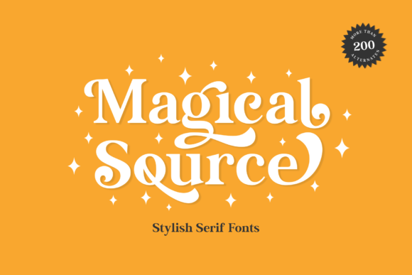 Print on Demand: Magical Source Serif Font By JavaPep