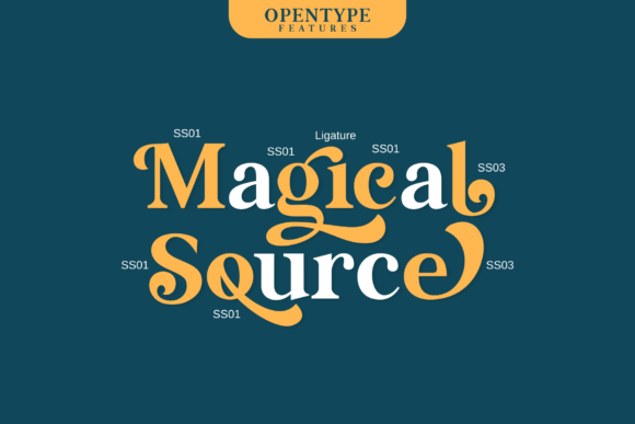 Print on Demand: Magical Source Serif Font By JavaPep - Image 3