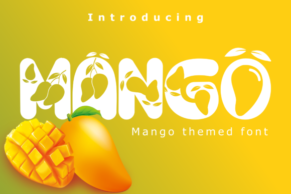 Print on Demand: Mango Display Font By Rusd studio