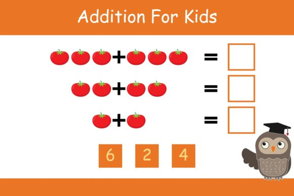 Print on Demand: Math for Kids Addition Kindergarten 15 Graphic K By studioisamu