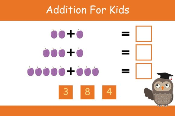 Print on Demand: Math for Kids Addition Kindergarten 16 Graphic K By studioisamu