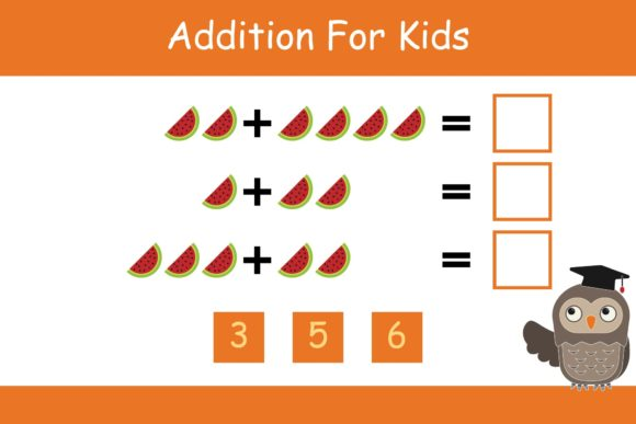 Print on Demand: Math for Kids Addition Kindergarten 17 Graphic K By studioisamu