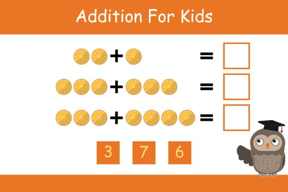 Print on Demand: Math for Kids Addition Kindergarten 19 Graphic K By studioisamu