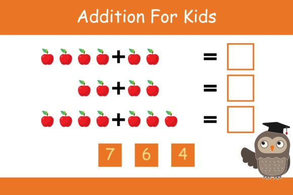 Print on Demand: Math for Kids Addition Kindergarten 2 Graphic K By studioisamu