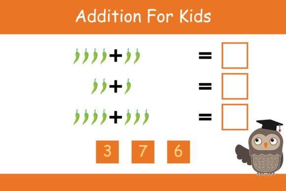 Print on Demand: Math for Kids Addition Kindergarten 20 Graphic K By studioisamu