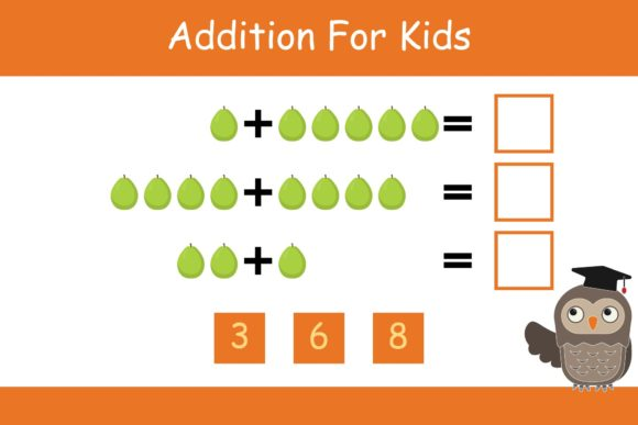 Print on Demand: Math for Kids Addition Kindergarten 4 Graphic K By studioisamu