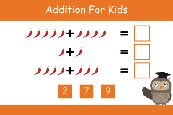 Print on Demand: Math for Kids Addition Kindergarten 5 Graphic K By studioisamu