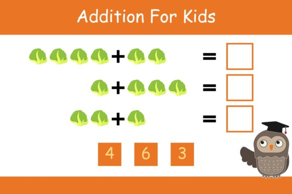 Print on Demand: Math for Kids Addition Kindergarten 6 Graphic K By studioisamu
