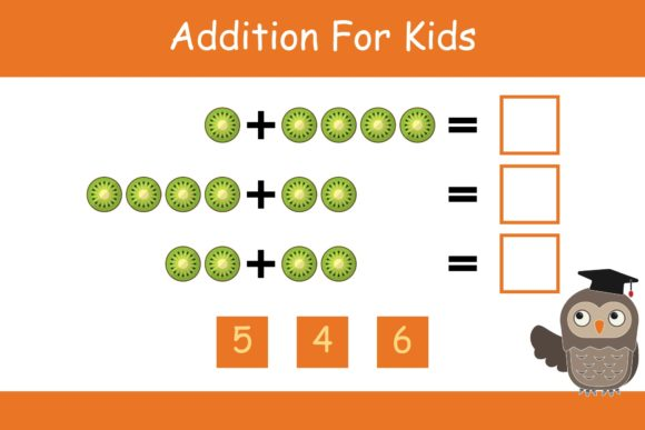 Print on Demand: Math for Kids Addition Kindergarten 7 Graphic K By studioisamu