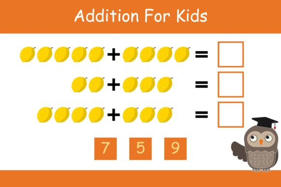 Print on Demand: Math for Kids Addition Kindergarten 8 Graphic K By studioisamu