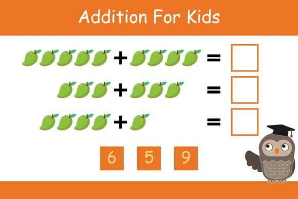 Print on Demand: Math for Kids Addition Kindergarten 9 Graphic K By studioisamu