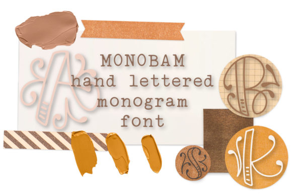 Print on Demand: Monobam Display Font By Justina Tracy