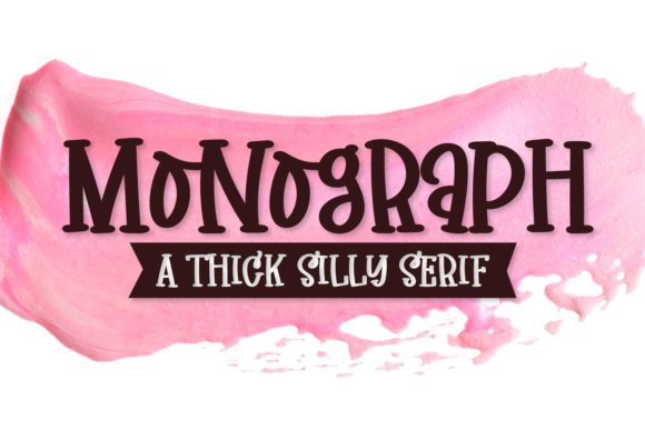 Print on Demand: Monograph Display Font By Justina Tracy