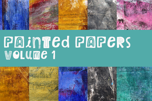 Painted Papers Volume 1 Graphic Backgrounds By Thistle Fairy Studio