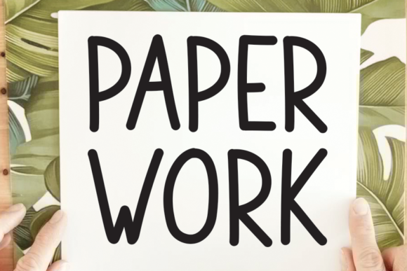 Print on Demand: Paper Work Sans Serif Font By andikastudio