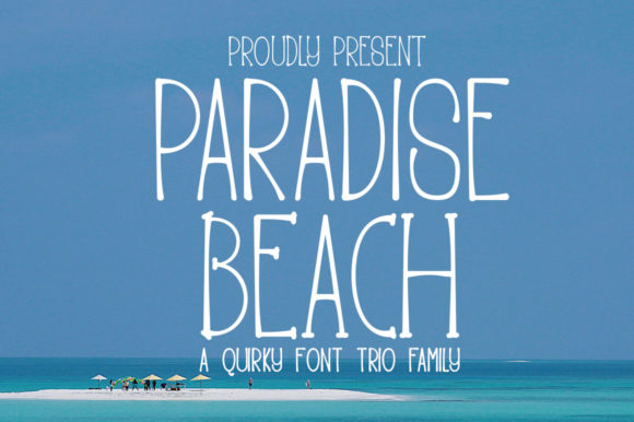 Print on Demand: Paradise Beach Display Font By edwar.sp111