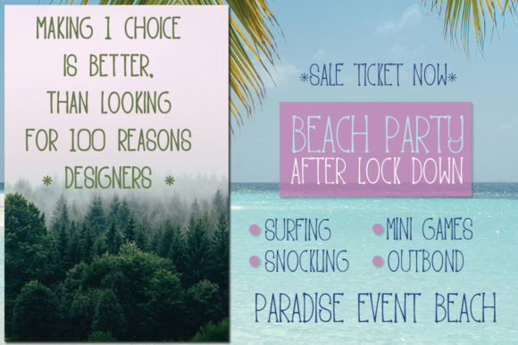 Print on Demand: Paradise Beach Display Font By edwar.sp111 - Image 5