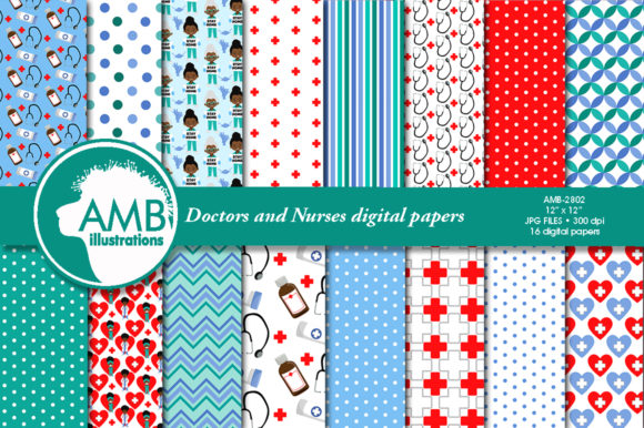 Paramedic Papers 2802 Graphic Patterns By AMBillustrations