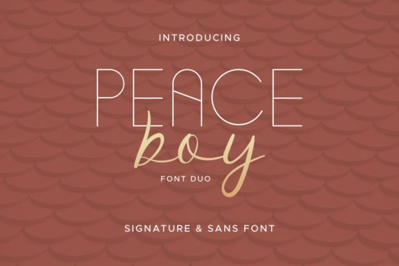 Print on Demand: Peace Boy Script & Handwritten Font By EdricStudio
