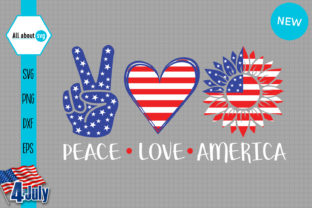 Peace Love America Graphic Crafts By All About Svg