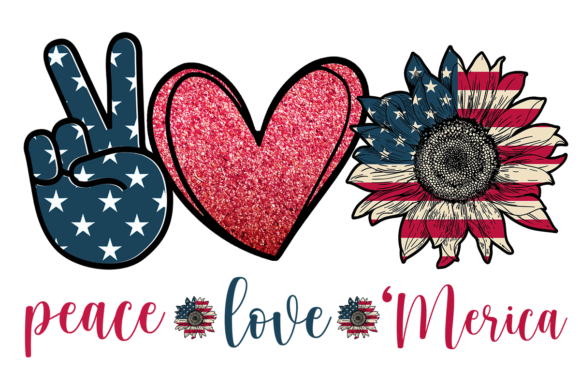 Peace Love Merica Graphic Crafts By pngbundles