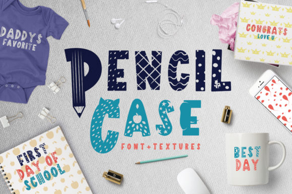 Print on Demand: Pencil Case Display Font By arausidp