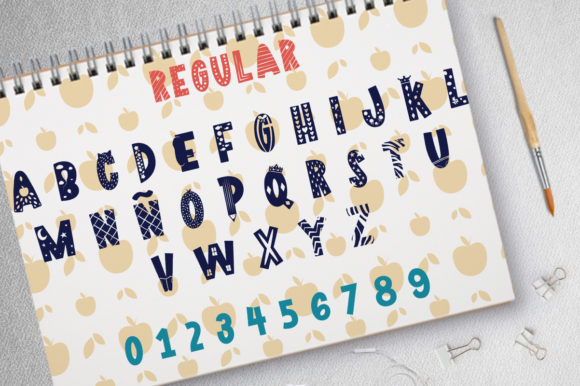 Print on Demand: Pencil Case Display Font By arausidp - Image 2