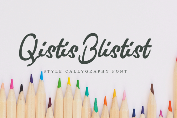 Print on Demand: Qistis Blistist Script & Handwritten Font By K_IN Studio