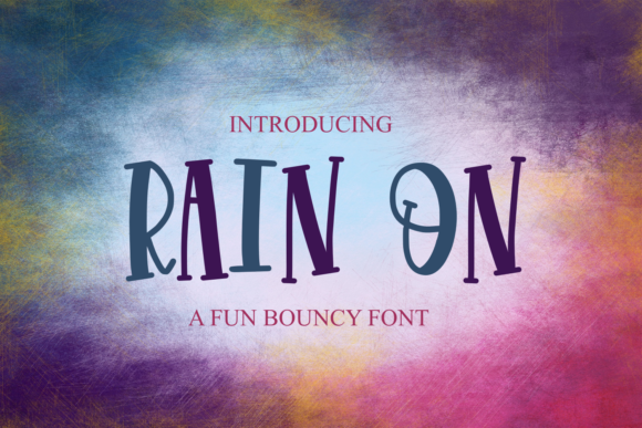Print on Demand: Rain on Display Font By Justina Tracy