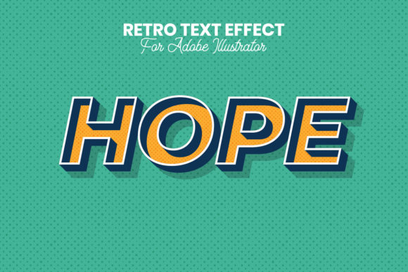 Download Free Retro Text Effect For Illustrator Graphic By Farizky Studio for Cricut Explore, Silhouette and other cutting machines.