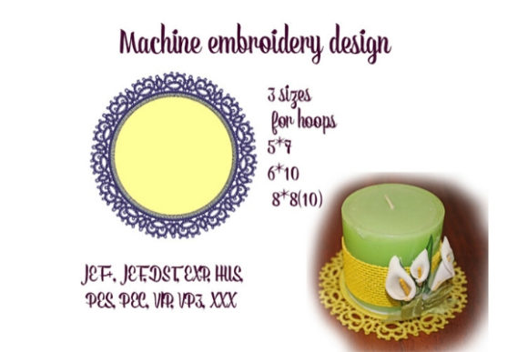 Round Daily Tatting Sewing & Crafts Embroidery Design By ImilovaCreations - Image 1