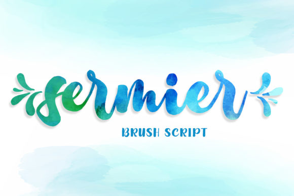 Print on Demand: Sermier Script & Handwritten Font By RochArt