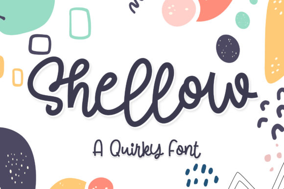 Print on Demand: Shellow Script & Handwritten Font By letter battoyart
