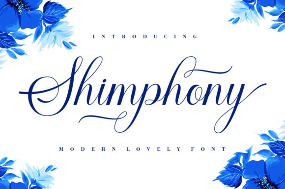 Print on Demand: Shimphony Script & Handwritten Font By creativescaleup - Image 1