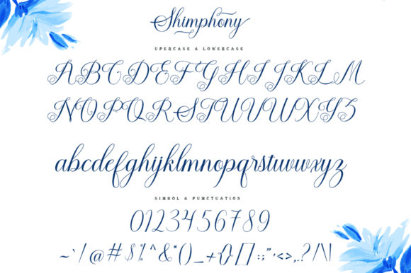 Print on Demand: Shimphony Script & Handwritten Font By creativescaleup - Image 6
