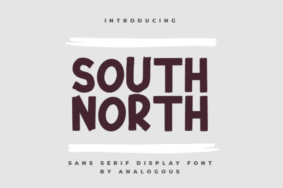 Print on Demand: South North Display Font By Analogous