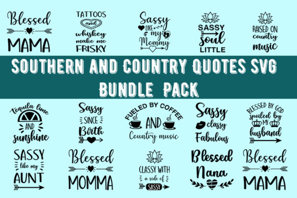 Print on Demand: Southern and Country Design Bundle Graphic Print Templates By Design_store