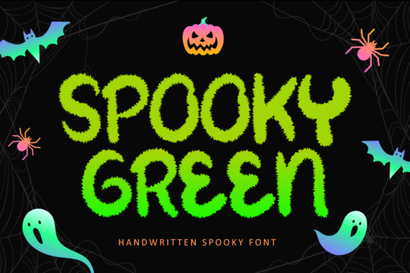 Print on Demand: Spooky Green Display Schriftarten von illushvara