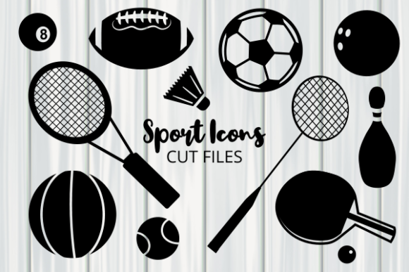 Print on Demand: Sport Ball Game Icon Cut Files Graphic Crafts By Prawny