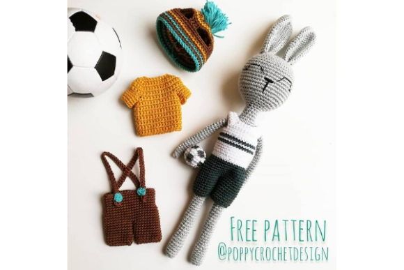 Sporty Bunny Boy Crochet Pattern Graphic Crochet Patterns By Needle Craft Patterns Freebies