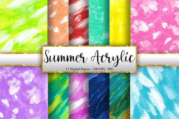 Summer Acrylic Texture Background Graphic Backgrounds By PinkPearly
