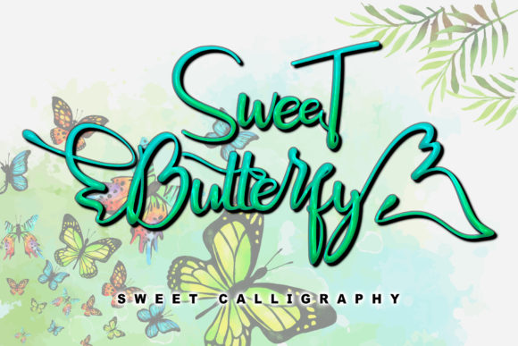 Print on Demand: Sweet Butterfly Script & Handwritten Font By andreyfontdesign